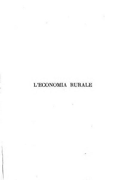 L'economia rurale, le arti ed il commercio