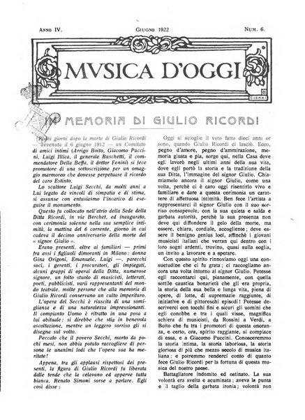 Musica d'oggi rassegna internazionale bibliografica e di critica