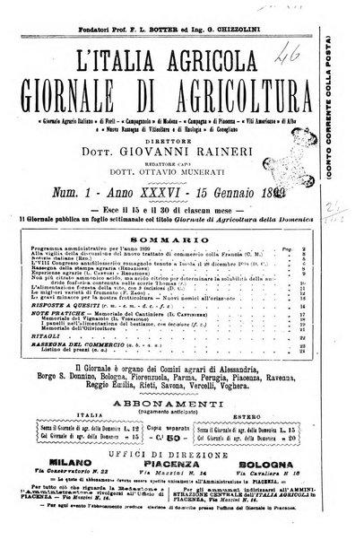L' Italia agricola giornale di agricoltura