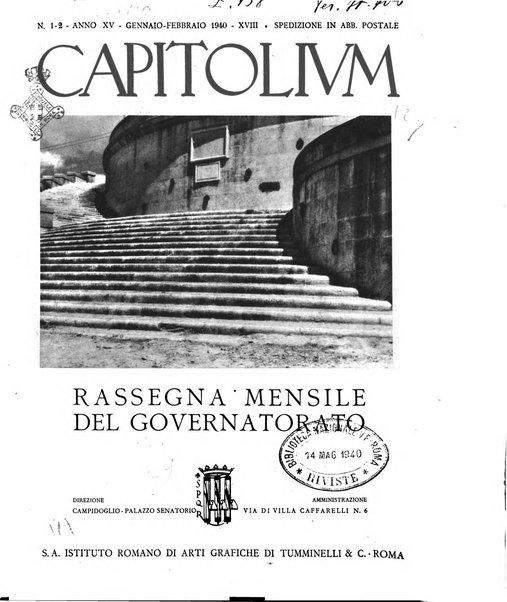 Capitolium rassegna mensile del Governatorato