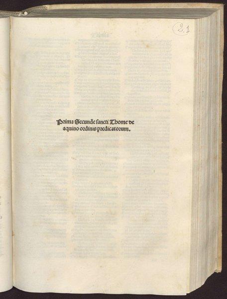 2.1: Prima secunde sancti Thome de aquino ordinis praedicatorum