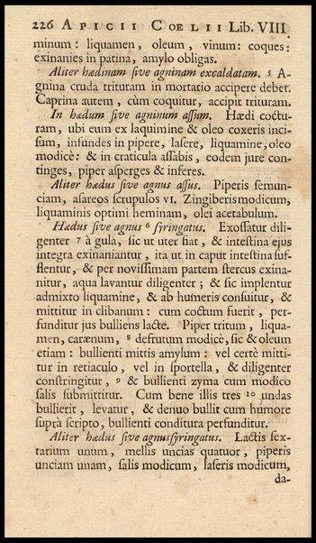 Apicii Coelii De opsoniis et condimentis, sive Arte coquinaria, libri decem. Cum annotationibus Martini Lister, ... et notis selectioribus, variisque lectionibus integris, Humelbergii, Barthii, Reinesii, A. Van der Linden, & aliorum, ut & variarum lectionum libello