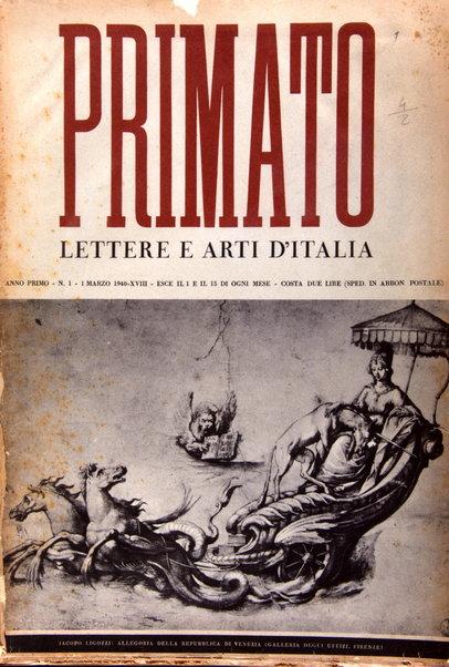 Primato : lettere e arti d'Italia