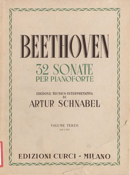 32 sonate per pianoforte. 3