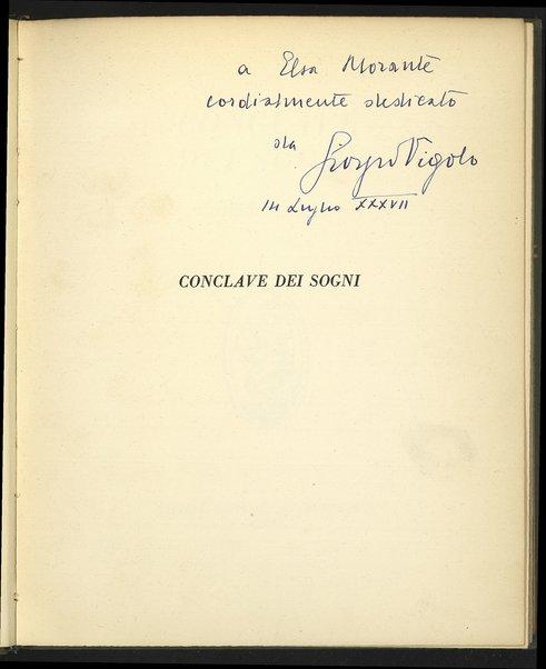 Conclave dei sogni / di Giorgio Vigolo