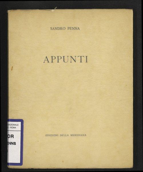 Appunti / Sandro Penna